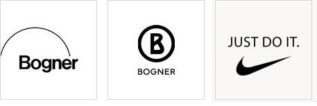 Bogner Bogen, Kreis und Nike Swoosh