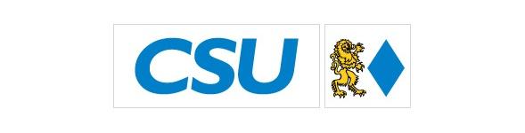 schlichtere Version eines CSU logo