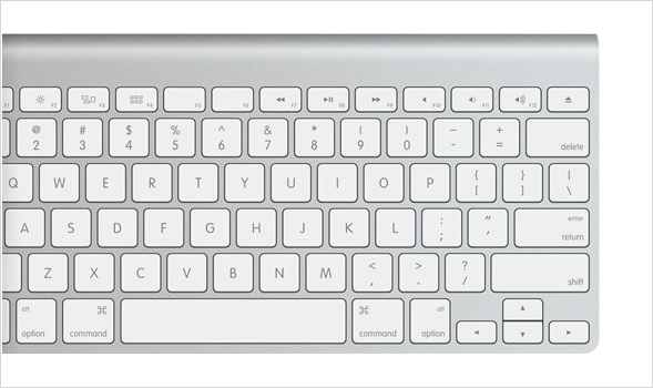 Apple's straight forward keyboard