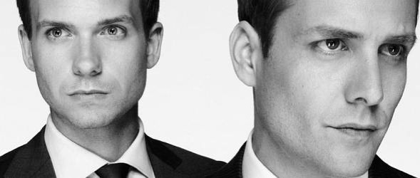 "Mike (Patrick J. Adams) und Harvey (Gabriel Macht) in der Serie ""Suits"" (c) USA Network"