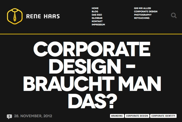 Rene Haas Blogeintrag: Corporate Design - braucht man das?