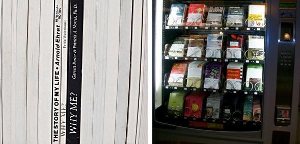 Nina Katchadourian (links) Bücherautomat (rechts)