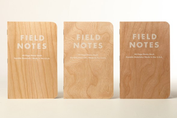 You already know that paper is made from wood, this years spring edition has a cover made of wood.