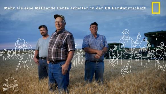 Mehr als eine Milliarde Leute arbeiten in der US Landwirtschaft