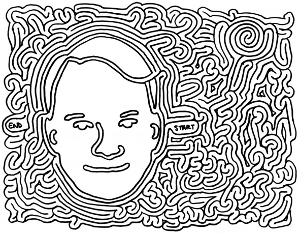 Steve Martin Mazes are drawn by Eric J Eckert © 2014