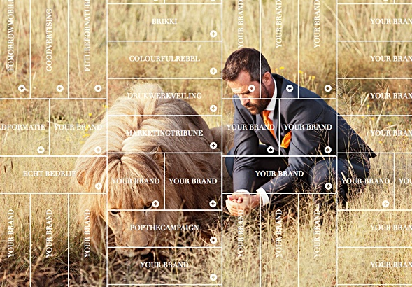Kevin Richardson demonstrates handling lions and other advertising formats.