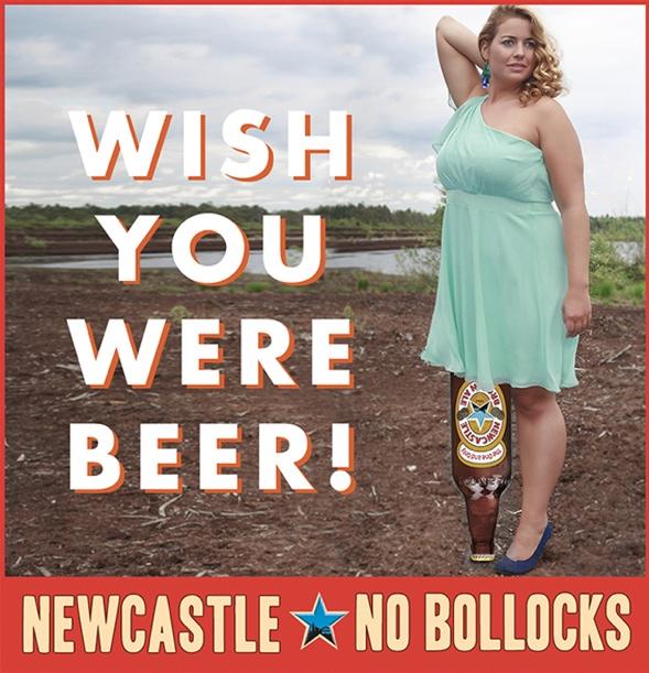 Britishe Newcastle Bierwerbung