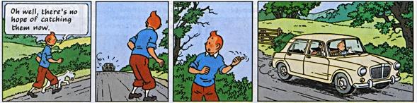 Hergé TinTin The black island