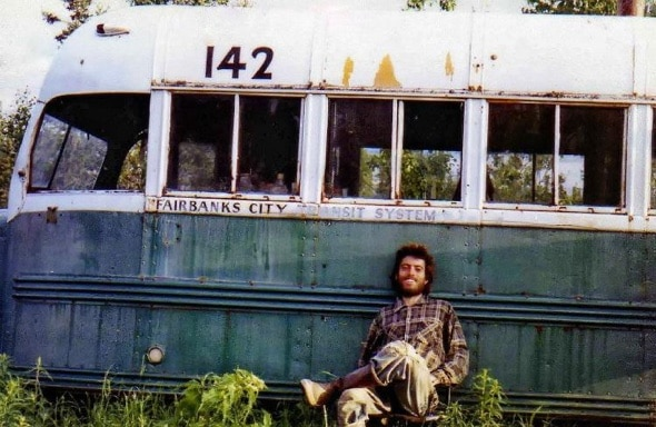 Deserted Bus 142 nearby George Parks Highway, where McCandles decomposing body was found on Sept 6 1992 by moose hunters.