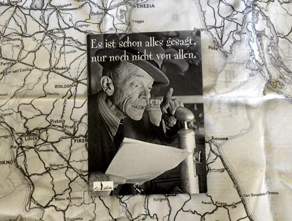 Karl Valentin auf Fallschirmspringer Taschentuch