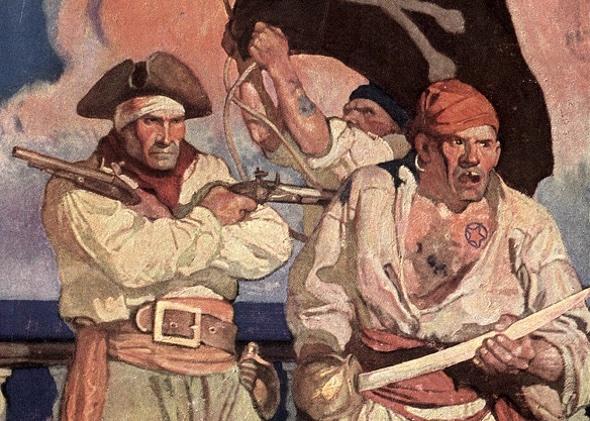 Treasure Island (Die Schatzisel) von Robert Louis Stevenson, Charles Scribner's Sons, 1911