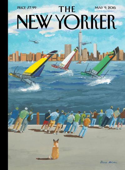 """Regatta on the Hudson"" by Bruce McCall"