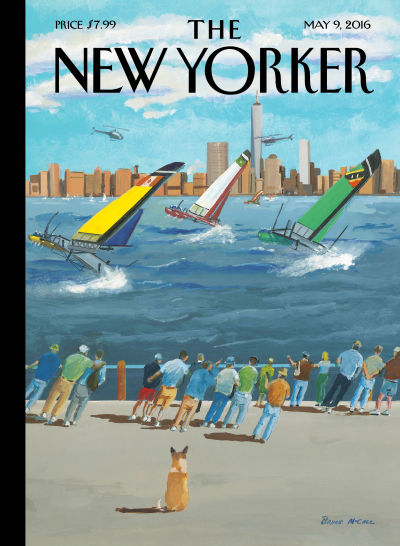 """Regatta on the Hudson"" by Bruce McCall"