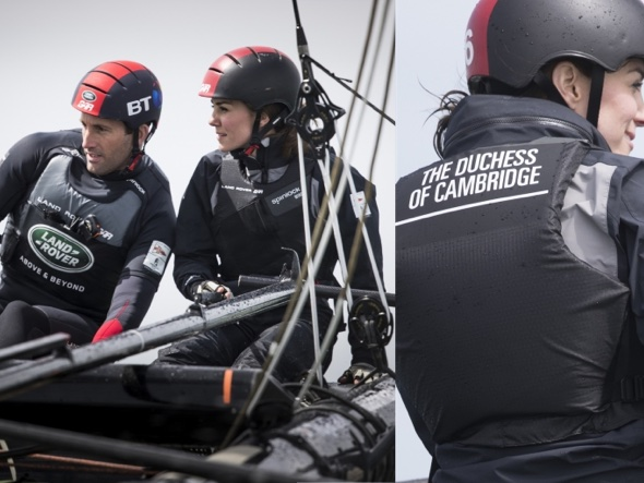 The Duchess of Cambridge in support of her Land Rover Team