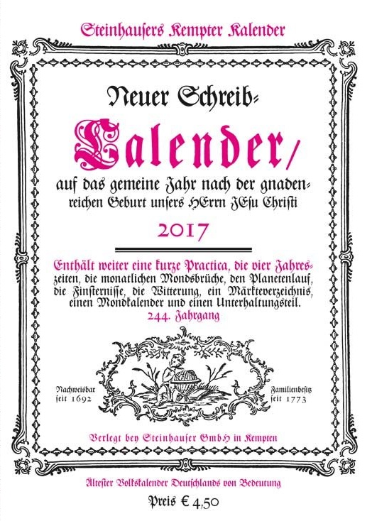 Steinhausers' Kempter Kalender 2017