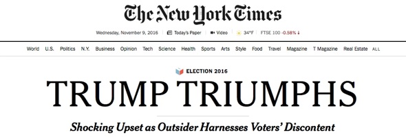 Trump Triumphs (c)The New York Times
