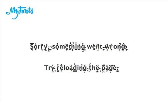 MyFonts 404 Fehlerseite