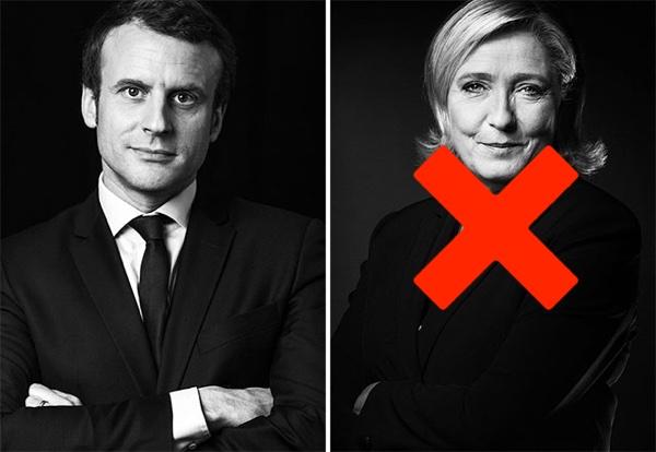 Emmanuel Macron u. Marine Le Pen. Foto AFP.