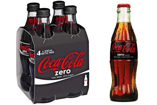 CocaCola Zero Viererpackung und Etiquette.