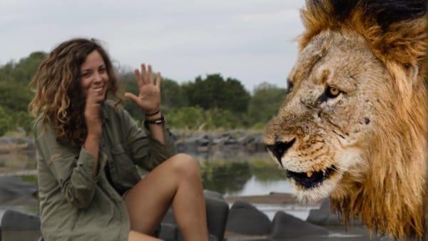 Gesa Neitzel als Rangerin in Afrika