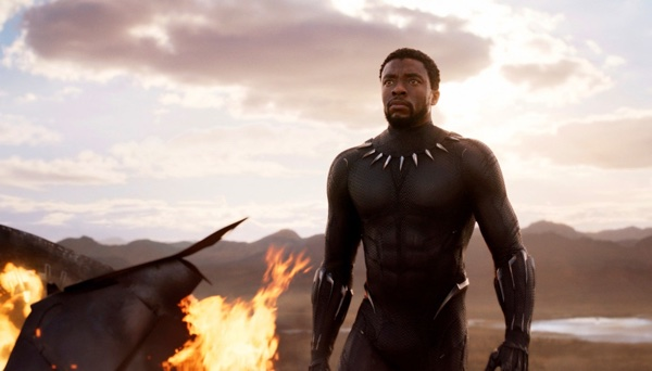 Chadwick Boseman in einer Szene von Black Panther (Marvel Studios:Disney via AP) (Associated Press)
