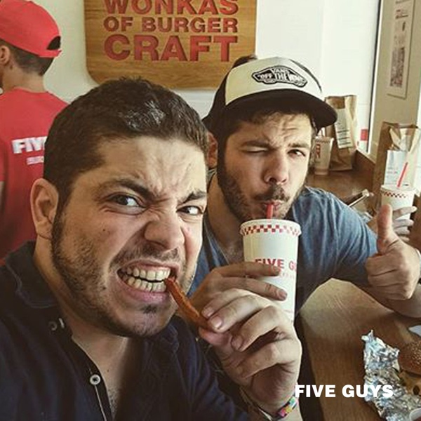 Friends and fries selfie in Madrid! #TravelTuesday (javitorrescifu | Instagram)