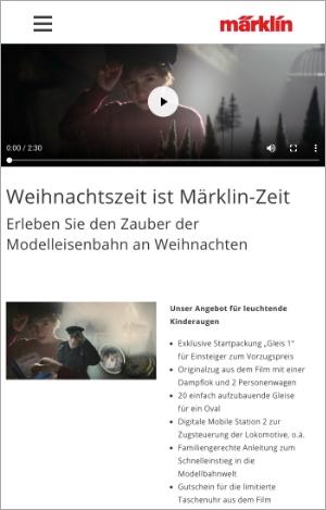 Märklin's vorbildlich  eingleisige Webseite