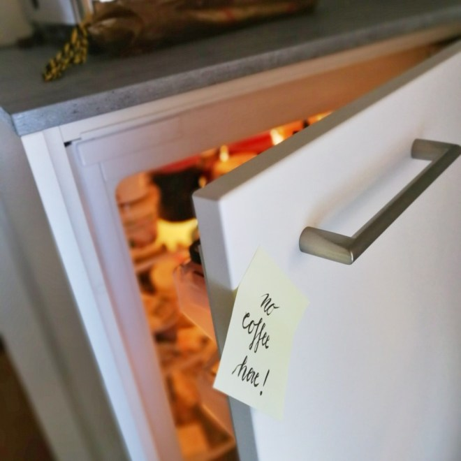 Im Kühlschrank keinen Kaffee aufbewahren