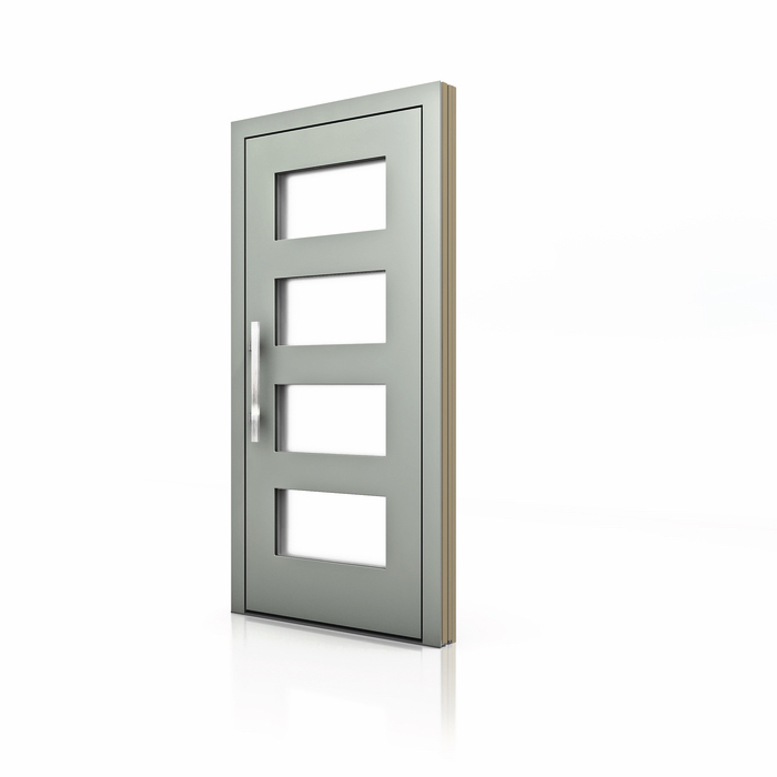 HT 400 Wood Aluminum Entrance Door with Glass