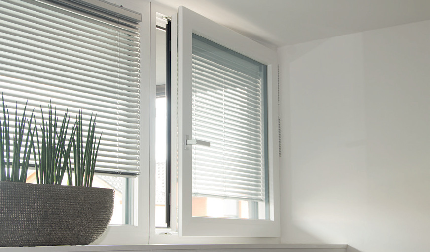 European Windows with Roller Shutters - Motorized Roller Shades Smart Home Automation of Custom Windows and Doors
