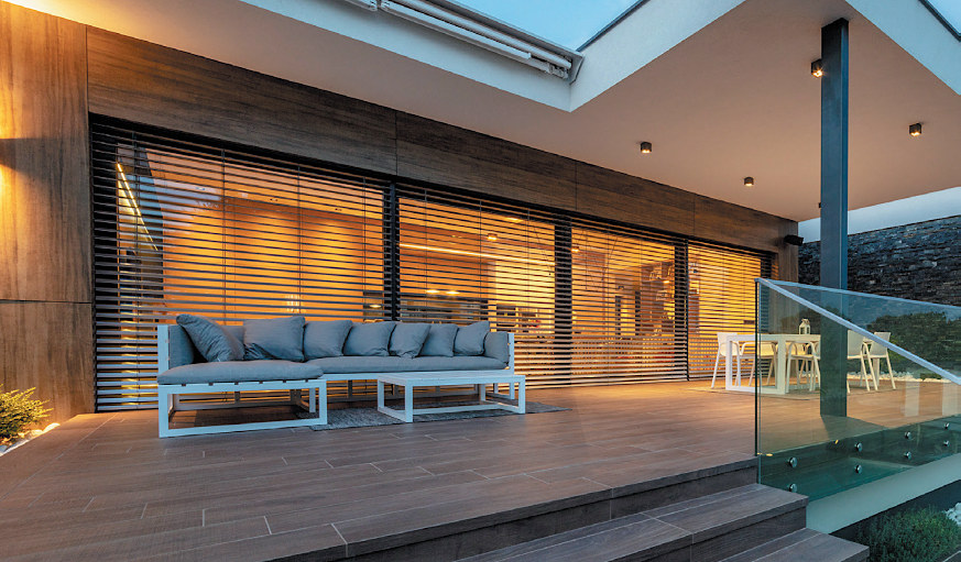 Motorized Roller Shades Blinds and Awnings Smart Home Automation System for Windows and Doors