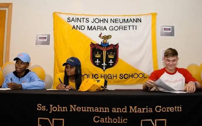 Signing Day at Neumann Goretti High School