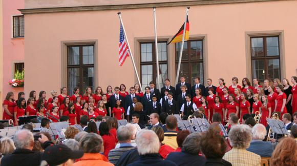Sound of America auf dem Rothenburger Marktplatz