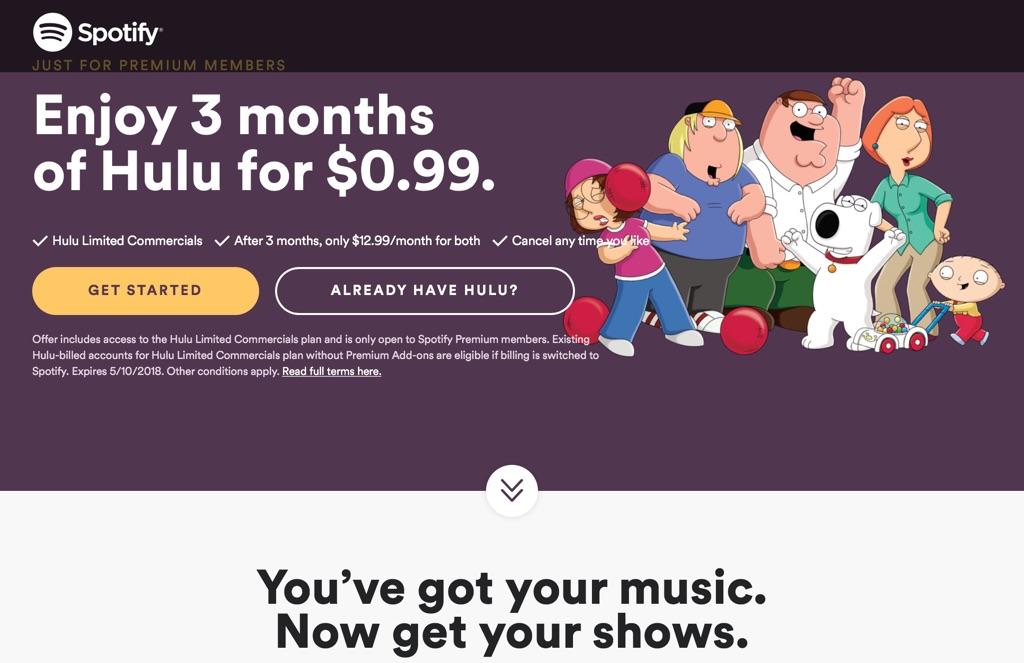 Spotify-hulu