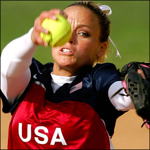 Jennie Finch can strike you out.