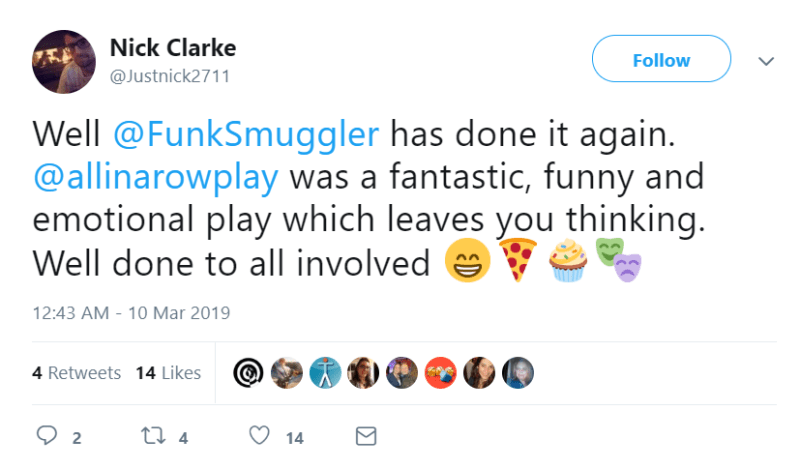 We didn't feel that @Autism understood the differences between the play on the page and the actual staged production we were creating.