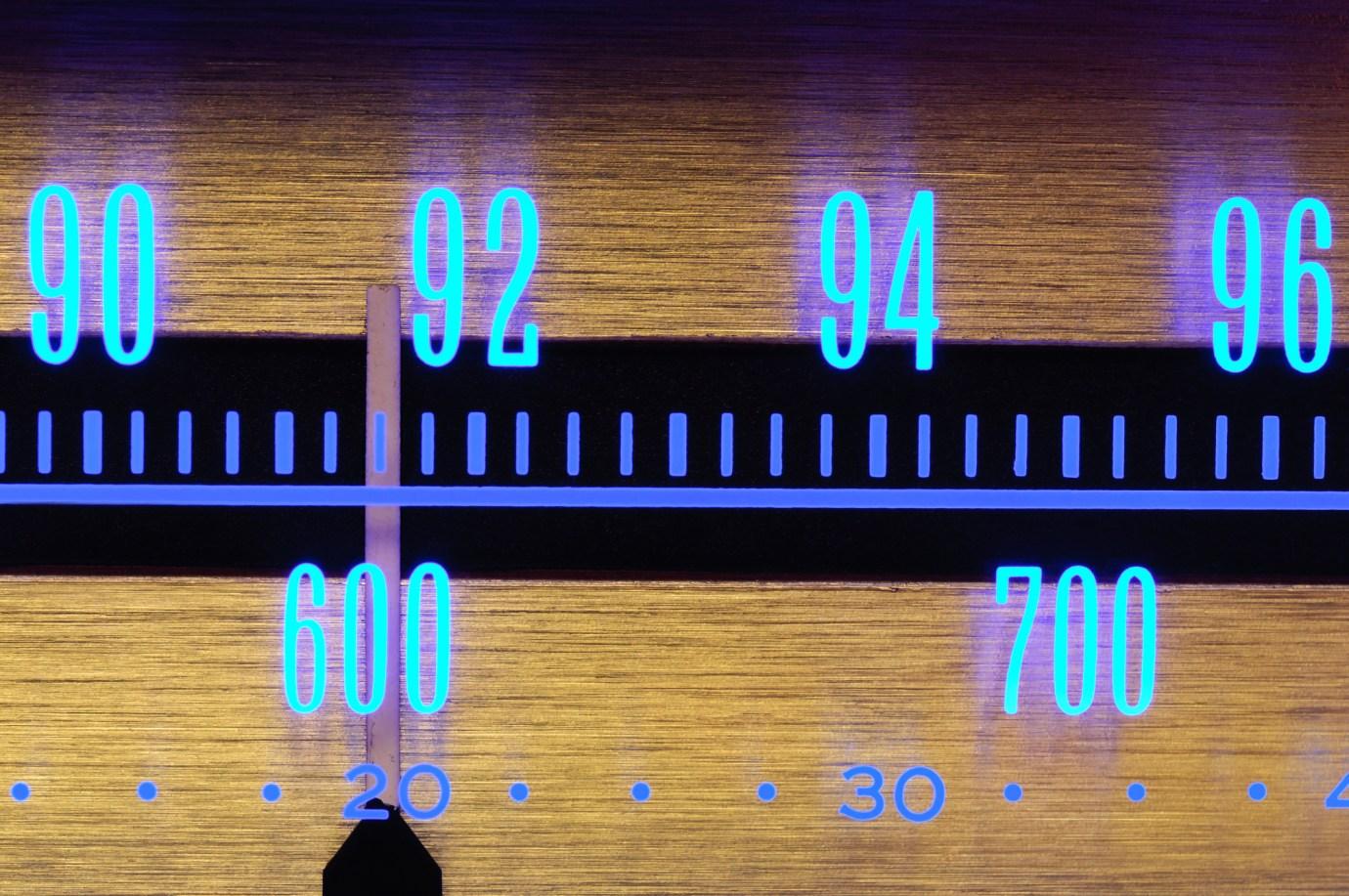 Glowing Radio Dial