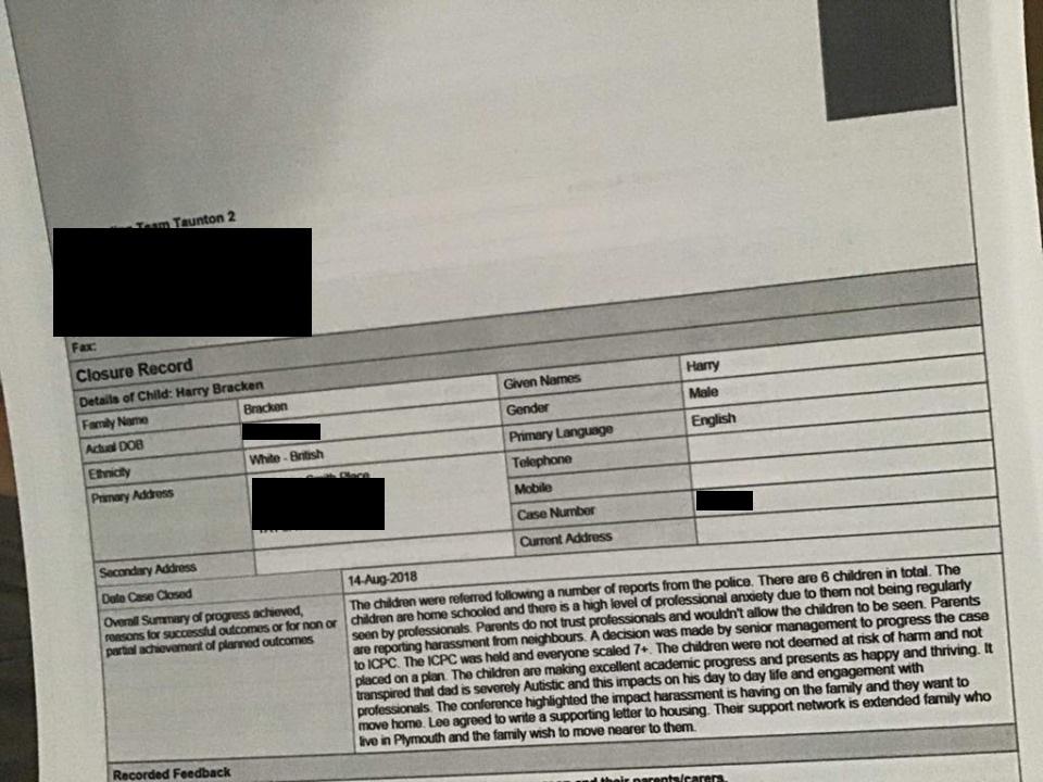 braxken family social services report