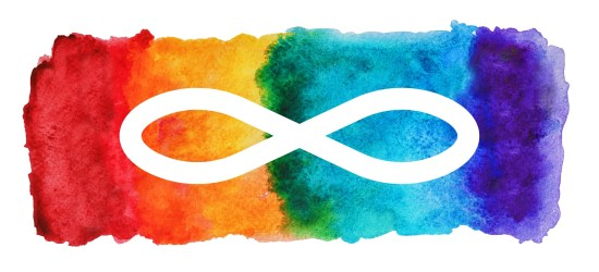 a watercolor of rainbow paint with an infinity symbol how to tell an autistic child with autism on the spectrum about being autistic having autism