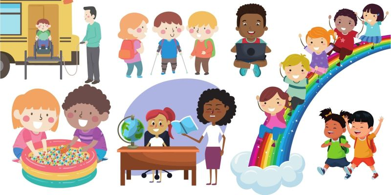 Children from many ethnicity