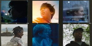 This image is for nonspeaking autistic author Ben Breaux's review of the film, The Reason I jump. The image features six photos from the film of the different autistic characters in the movie