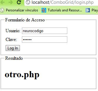 Login en PHP con ajax , json y Mysql (3/4)
