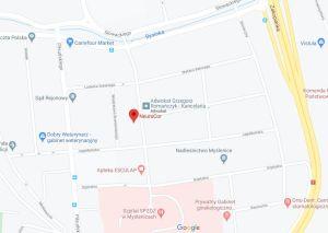 nowy adres NeuroCor - mapa
