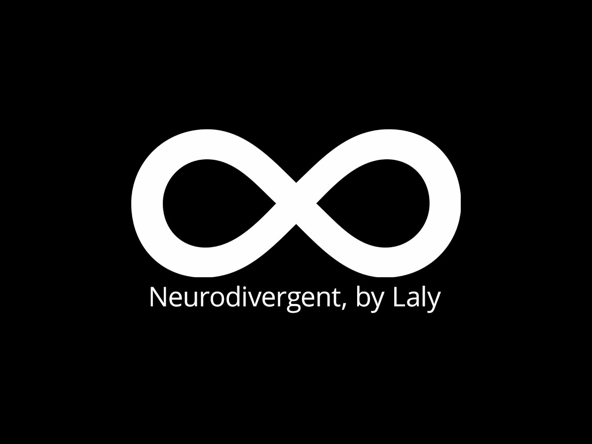 infinity symbol, neurodivergent by Laly