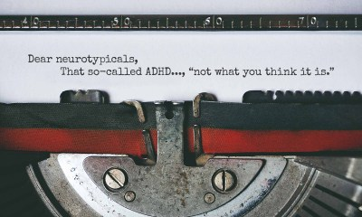 in a sheet in a type writer there is a letter to neurotypicals