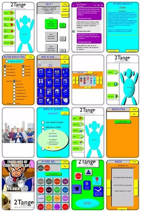 Zelfmanagement app vroeg prototype