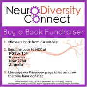 Image contains instructions for donating to the NeuroDiversity Connect library which have been described in the post.