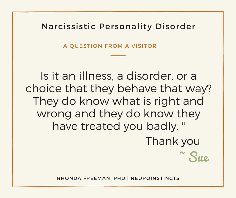 is narcissistic personality disorder an illness neuroinstincts