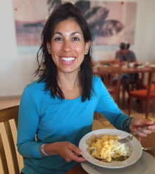 Dr. Vanessa Baute eating her favorite Mexican dish