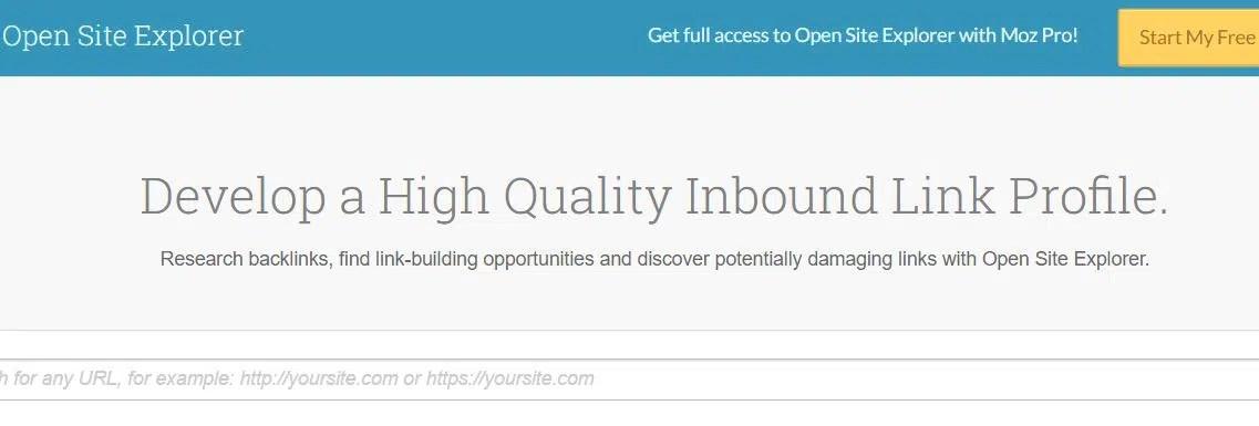 Herramienta seo: Open site explorer